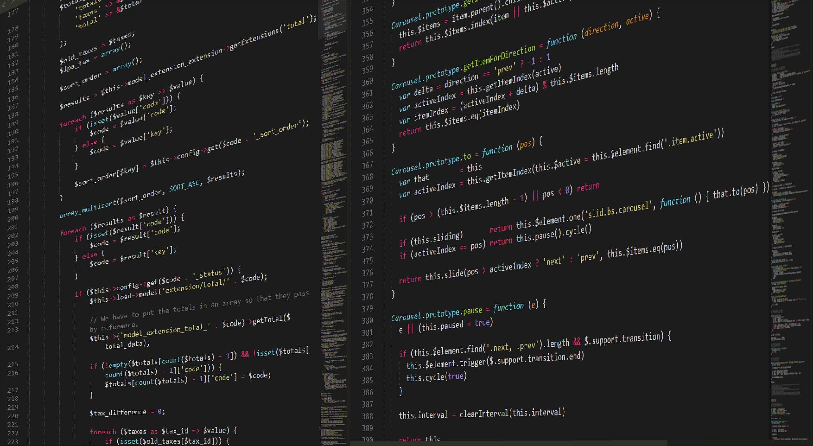 Koder på en data